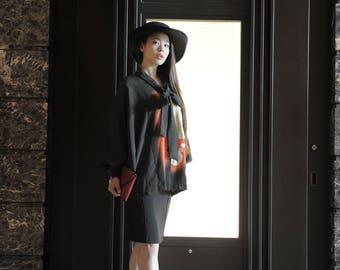 Kimono Blouse (Flame of Plum)