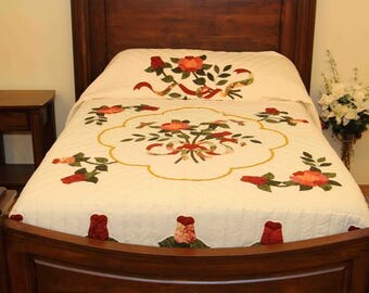 Celtic Rose Amish Made Quilt