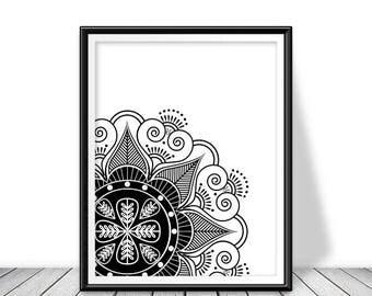Mandala Wall, Mandala wall art, Mandala decor, Mandala printable, Mandala digital, Mandala Wall decal, Mandala wall decor, Mandala print