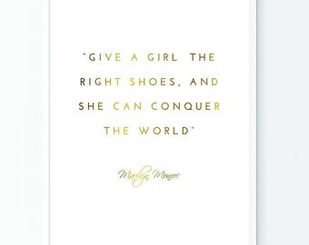 Marilyn Monroe Quote // Printable Art // Wall Art // Art Print // Home Decor // Instant Download // Wall Hanging // Inspirational Print