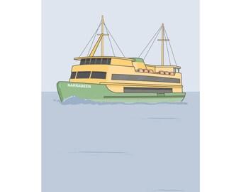 Sydney Ferry print
