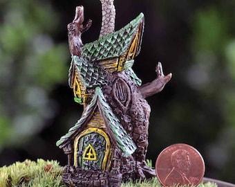 Fairy garden fairy house Fiddlehead tree house