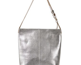 Small laptop bag Kim silver