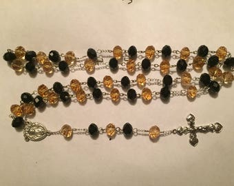 Black and Gold Rosary