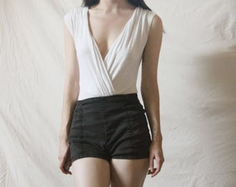 90s white bodysuit XS S
