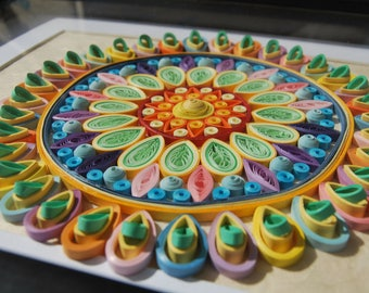 Fairytale of magic paper. Mandala of joy.