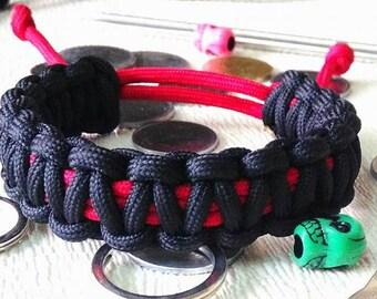 Paracord Survival Bracelet - Adjustable - King Cobra