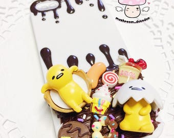 On Sale - Ready to Ship - Gudetama iphone SE / 5 / 5S decoden chocolate case