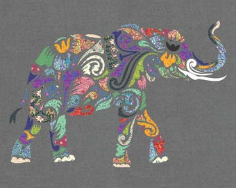 Holi Ganesha Applique Quilt Pattern