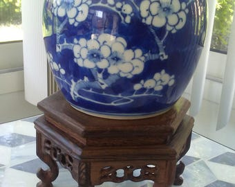 Chinese Qing Dynasty Prunus Blossom Ginger Jar