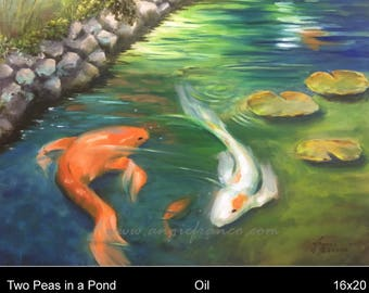 Two Peas in a Pond, Original Oil