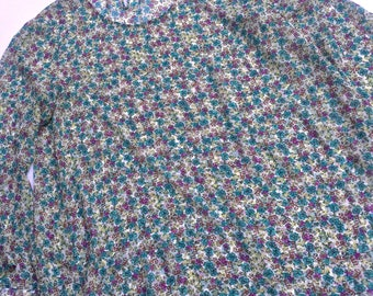 Indigo Soul Translucent Floral Shirt - Women's/Juniors XL
