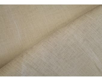 Premium European 100% Linen Fabric by meter Beige Color