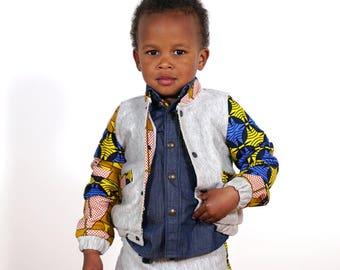 Child Teddy fleece and wax Ateki sleeves