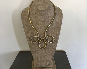 Gold and Silver  bendable 6mm snake necklace