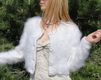 ORDER handmade mohair shrug hand knitted mohair sweater fuzzy mohair bolero cropped sweater jacket summer shrug fuzzy soft bolero Dukyana