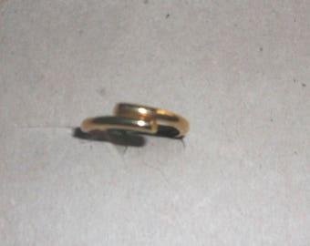 14K Gold Overlap band Ring stackable ring Vintage