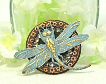 Dragonfly Brooch Dance of the Blue - Dragonfly Pin - Dragonfly Jewelry - Gift for Her - Handmade Jewelry - Dragonfly Gift - Nature Jewelry