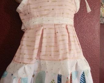Dress Arrow Gold  18months- 4T Toddler Girl Boutique