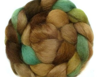 WENSLEYDALE roving top handdyed spinning fibre 3.4 oz