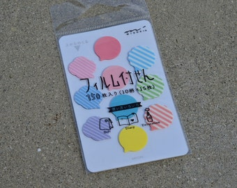 Midori Film Sticky Notes - Mini Rainbow Speech Bubbles - for Planners and Schedule