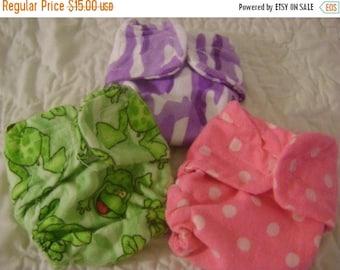 Cloth Doll Diaper -  4 pack SURPRISE GRAB BAG!
