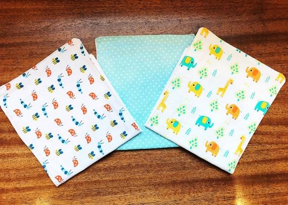Baby Burp Cloths, Set of 3, Burp Cloth Set, Boy Burp Cloth Set, Baby Shower Gift, Infant Burp Cloth