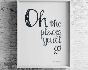 Oh the places you'll go! - Digital Download
