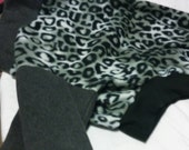SALE!!! Greyhound Jammies -  Large. snow leopard