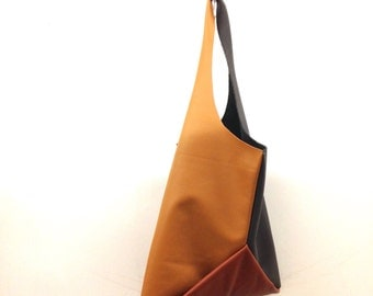 13in Origami wedge - Tri color neutrals