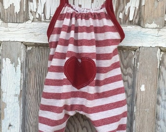 40% OFF- Whimsies Baby Romper-Eco Friendly-Valentines Baby-T shirt Cotton-0-3m