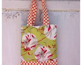 50% OFF- Floral Polka Dot Tote Bag-Library Bag