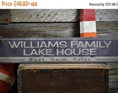 ON SALE Lake House Sign, Custom Lake Sign, Lake House Decor, Family Lake Sign, Sign For Lake House, Lake - Rustic Hand Made Wooden Sign ENS1