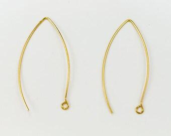 45mm Bright Gold Modern Ear Wire #EFA102
