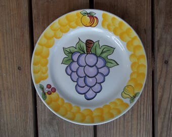 Tabletops Unlimited ITALIAN Fruit Dinner Plate GRAPES 10-1/2 inch Dia. China Dishwasher Oven Microwave Safe