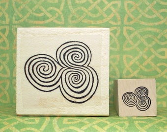 Newgrange Spirals Rubber Stamp Set Ancient Ireland