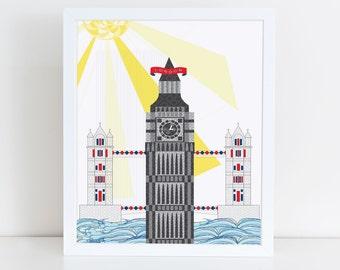 London Big Ben Print