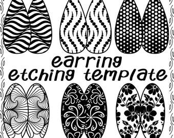 Digital Illusional Rectangle Pattern for Etching Earrings Download DT-favor-swa-1b