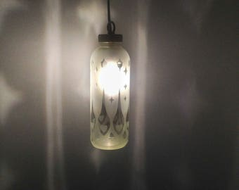 Pinstripe Heart Spoon Bottle Lantern