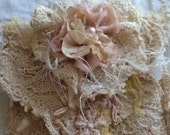 shabby lace pouch with tags