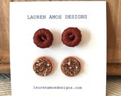 Stud Gift Set 6 - wine & druzy