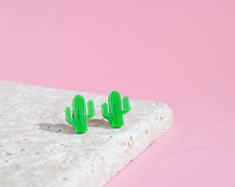 Cactus earrings - cacti earrings - laser cut earrings - cactus studs - cactus studs - cactus jewellery - cacti jewelry - plant earrings