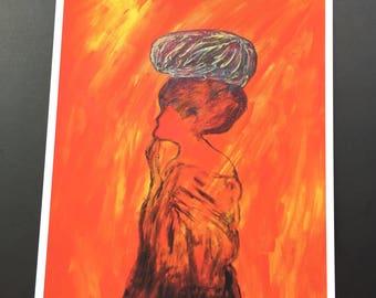 Pensive Moment-Woman Art Print