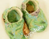 Baby Boys Animal Safari soft fabric shoes, Baby Booties, Baby boys gift, handmade booties Baby Shower Gift, Made in the USA,