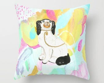 BERNARD ON ABSTRACT Right Facing Pillow 4 sizes -  (indoor and outdoor fabrics)