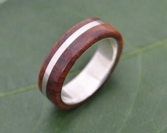 Size 9.5 6mm READY TO SHIP Solsticio Coyote Wood Ring - ecofriendly wood wedding band, mens wedding band, wood wedding ring