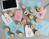 Any 1, 2 or 3 Kawaii Polymer Stamps - pick and mix food, space, animal, nature, Christmas, Halloween characters