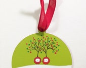 hand painted original ornament - holiday style