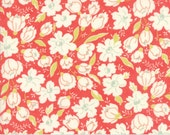 Coney Island - Buttercups in Candy Apple Red: sku 20285-12 cotton quilting fabric by Fig Tree and Co. for Moda Fabrics - 1 yard