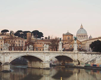 "Rome Print, Vatican St Peter's Basilica, Rome Picture, Italy Wall Art, Rome Italy Skyline, Fine Art Photography ""Eternal City"""